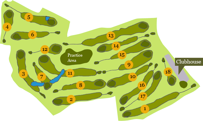The Grove Golf Course Plan View